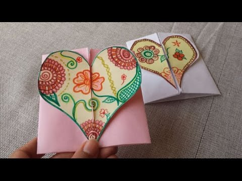 DIY-Envelope Paper heart card Gift || Make for Boyfriend/Girlfriend .