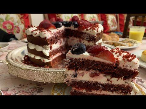 gâteau-red-velvetحلوى-ريد-ڤيلڤيت-الشهية-بالجبن-الأبيض-بطريقة-سهلة-و-سلسة