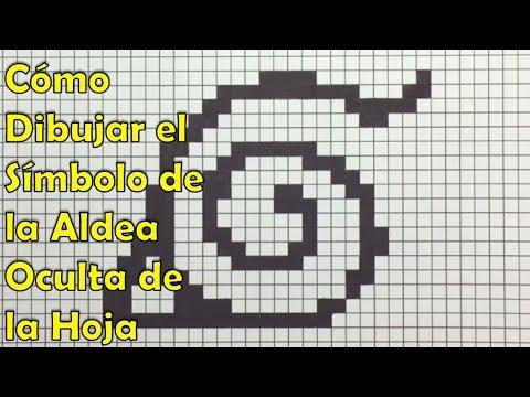 Cómo Dibujar el Símbolo de la Aldea Oculta de la Hoja en 8-bit o ...