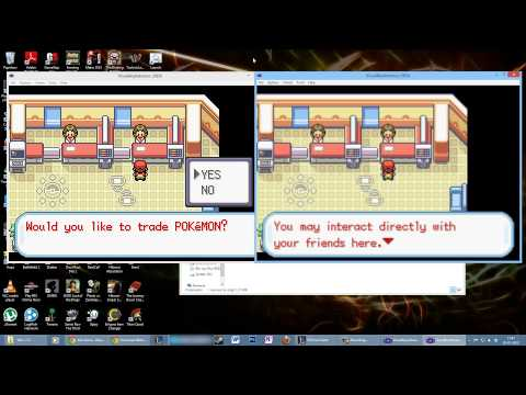 How To Trade Pokémon On VBA Emulater One Computer (Leaf Green)