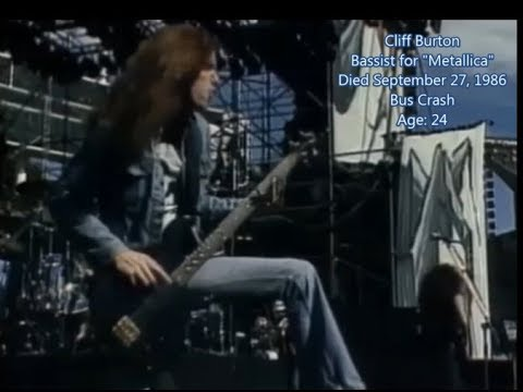 Dead Musicians / Music Stars - Complete List - Part 3 (1986-1989)