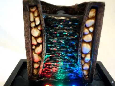 Fuente de agua pared en piedra de colores youtube for Fuentes en pared