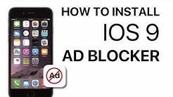 How to install IOS 9 Ad Blocker apps - iphone ipad Safari
