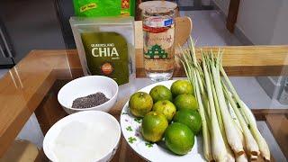 Cách tự làm nước Chanh sả hạt chia ngon tại nhà