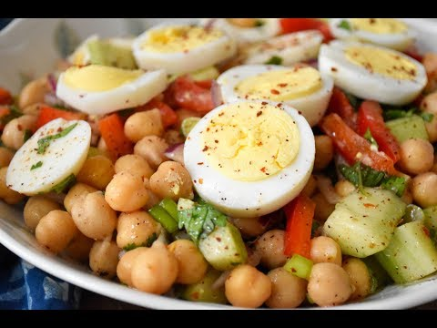 Mediterranean Chickpea and Egg Salad