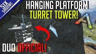HANGING CLIFF PLATFORM TURRET TOWER! | Duo Official PvP - Ep. 12 - Ark: Survival Evolved