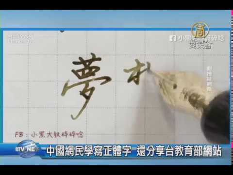 【新唐人/NTD】中國網民學寫正體字 還分享台教育部網站|正體字|繁體字|簡體字|手寫熱
