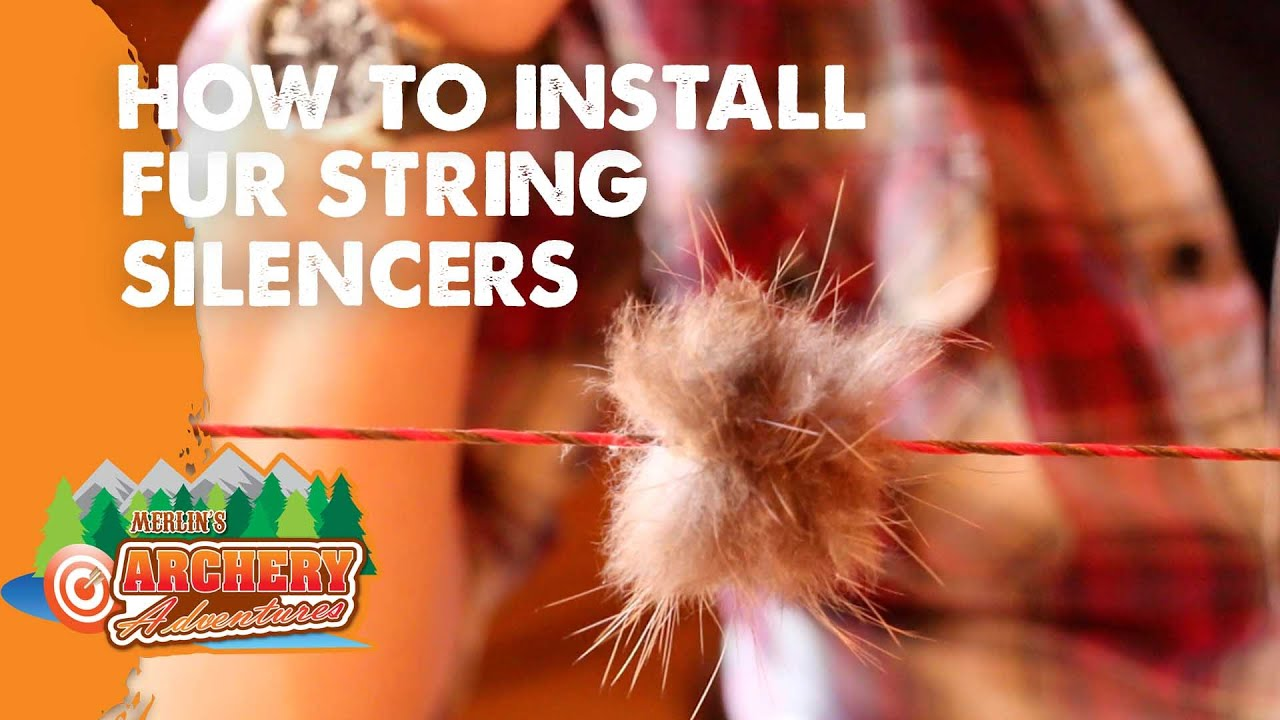 How to install fur string silencers (traditional archery)