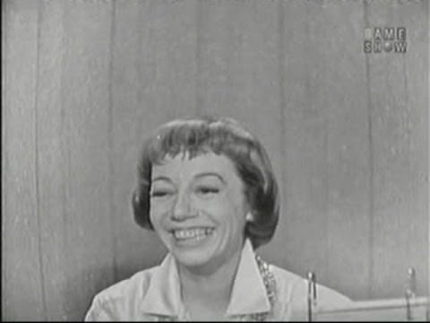 What's My Line?  Imogene Coca; Tom Poston panel Oct 26, 1958