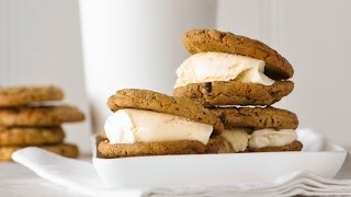 Easy and simple Chocolate chip ice cream sandwiches with the Scraper mixer pro