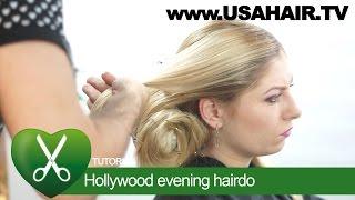 Hollywood evening hairdo. parikmaxer TV USA | parikmaxer TV USA