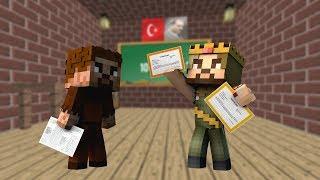 ARDA VE RÜZGAR KARNE ALIYOR! 😱 - Minecraft