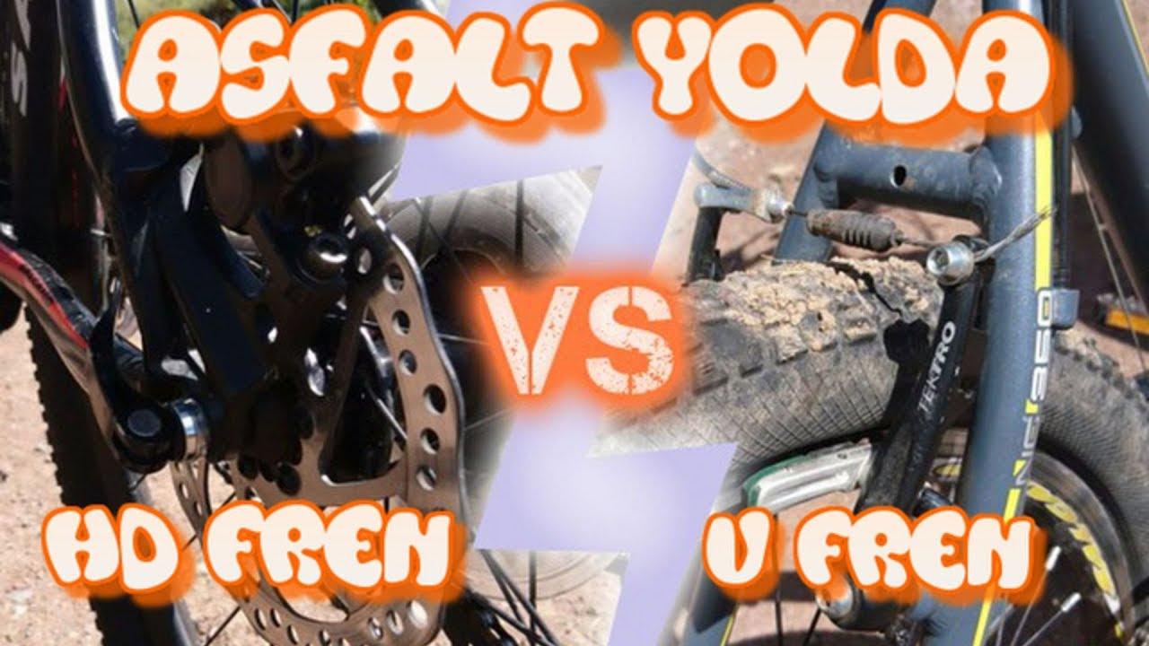 V Fren vs HD Fren   Asfalt Yolda Hidrolik Disk Fren mi V Fren mi Daha İyi?