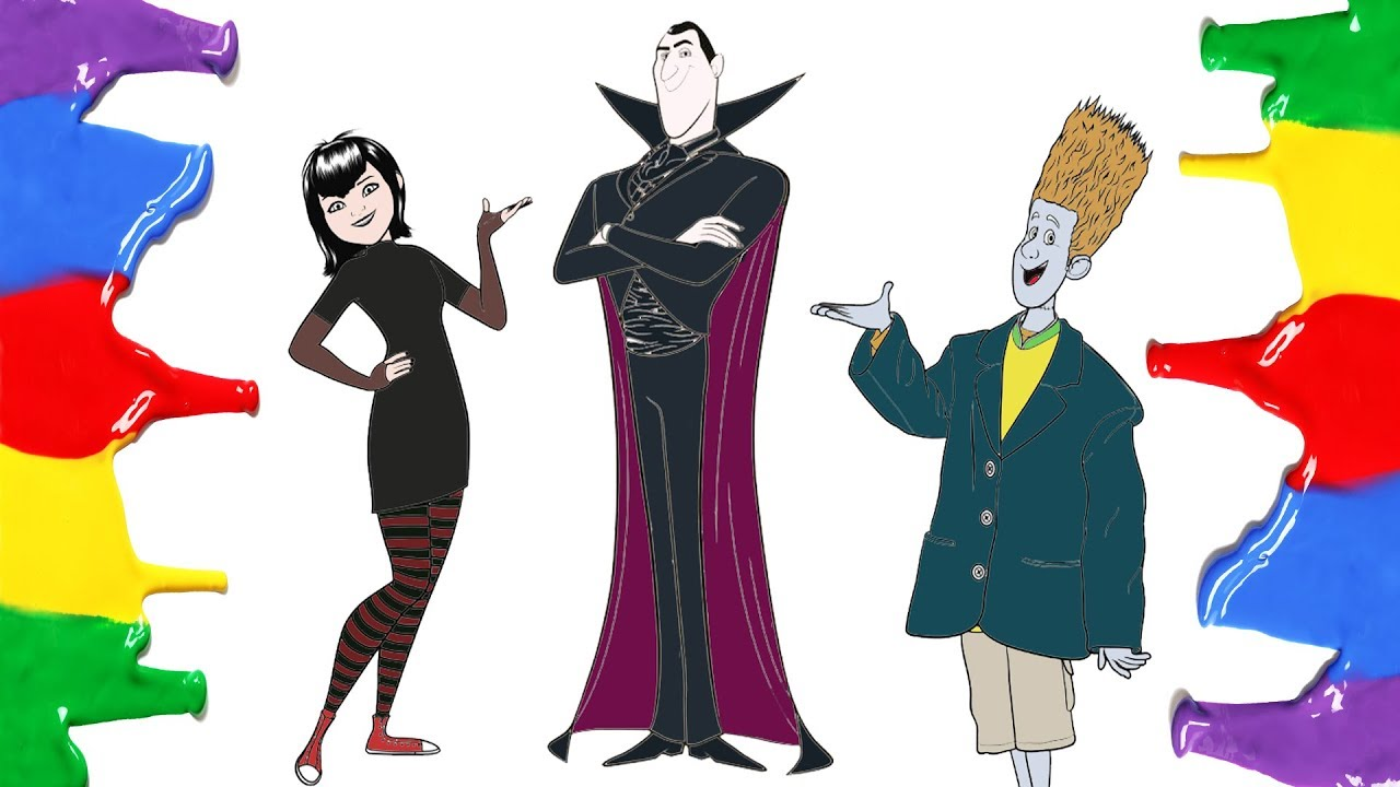 How To Draw And Color Hotel Transylvania 3 Summer Vacation Coloring Pages