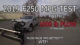 F250 gets BETTER gas mileage WITH snow plow on it?... Why???