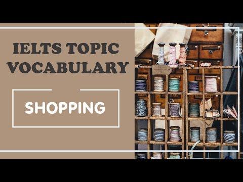 IELTS Vocabulary band 8 : shopping