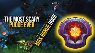 Qupe Pudge | THE MOST SCARY PUGDE EVER!!! EPIC MAX RANGE HOOKS | Pudge Official