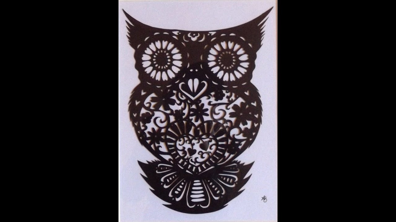 owl paper cut out time lapse video  waiting for the dawn
