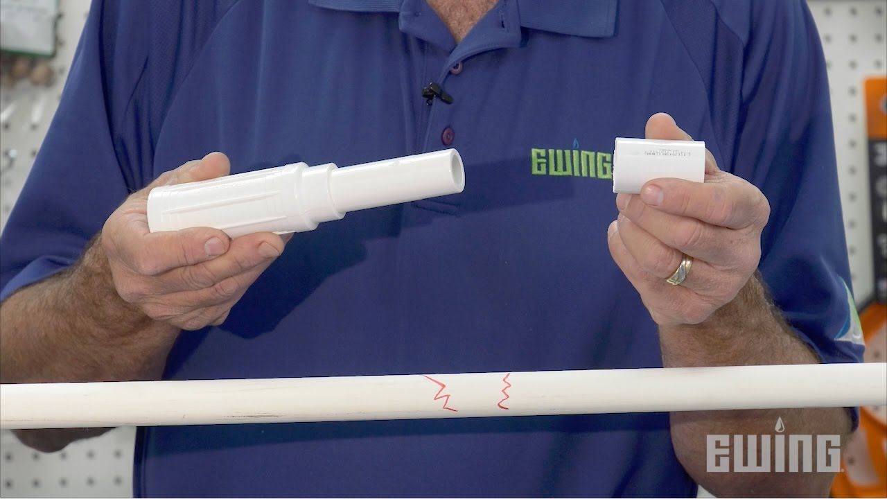 How To Repair PVC Pipe Using A Slip Fix