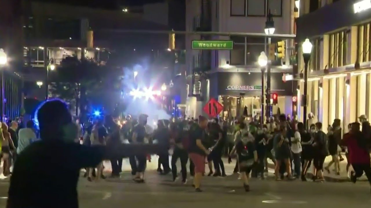 Protesters tear-gassed, 42 arrested after blocking Woodward Avenue against Operation Legend