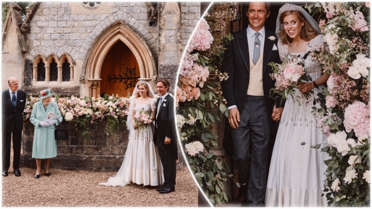 Princess Beatrice's royal wedding photos: vintage dress, no Prince ...