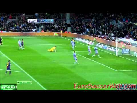Messi completes his hattrick against Osasuna 4-1