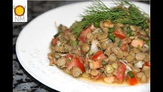 Салат из чечевицы с овощами. Вкусный и полезный салат.Готовится просто, а вкус тебя порадует
