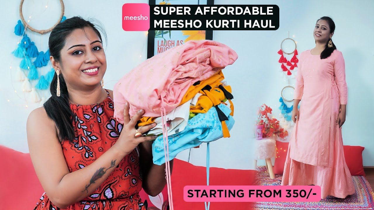 Super Affordable Meesho Kurti Haul ||  Starting from 350