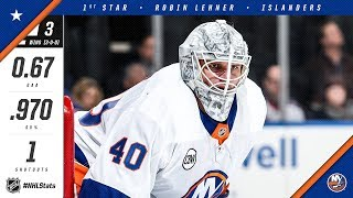 Robin Lehner is named first star of the week