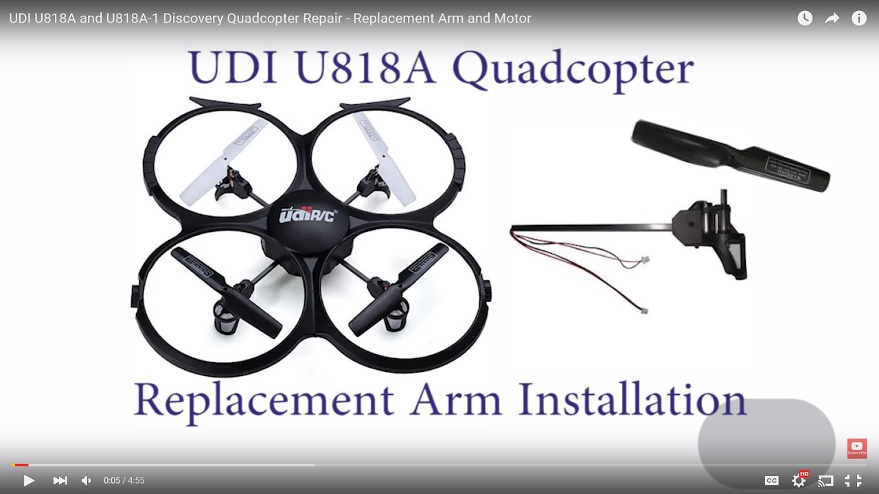 maxresdefault udi u818a more quadcopter repair replacement arm and motor and U818A HD at bakdesigns.co