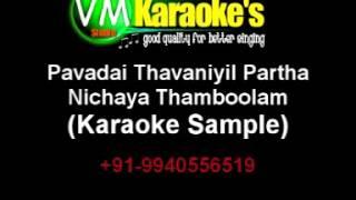 Pavadai Thavaniyil Partha Karaoke Download