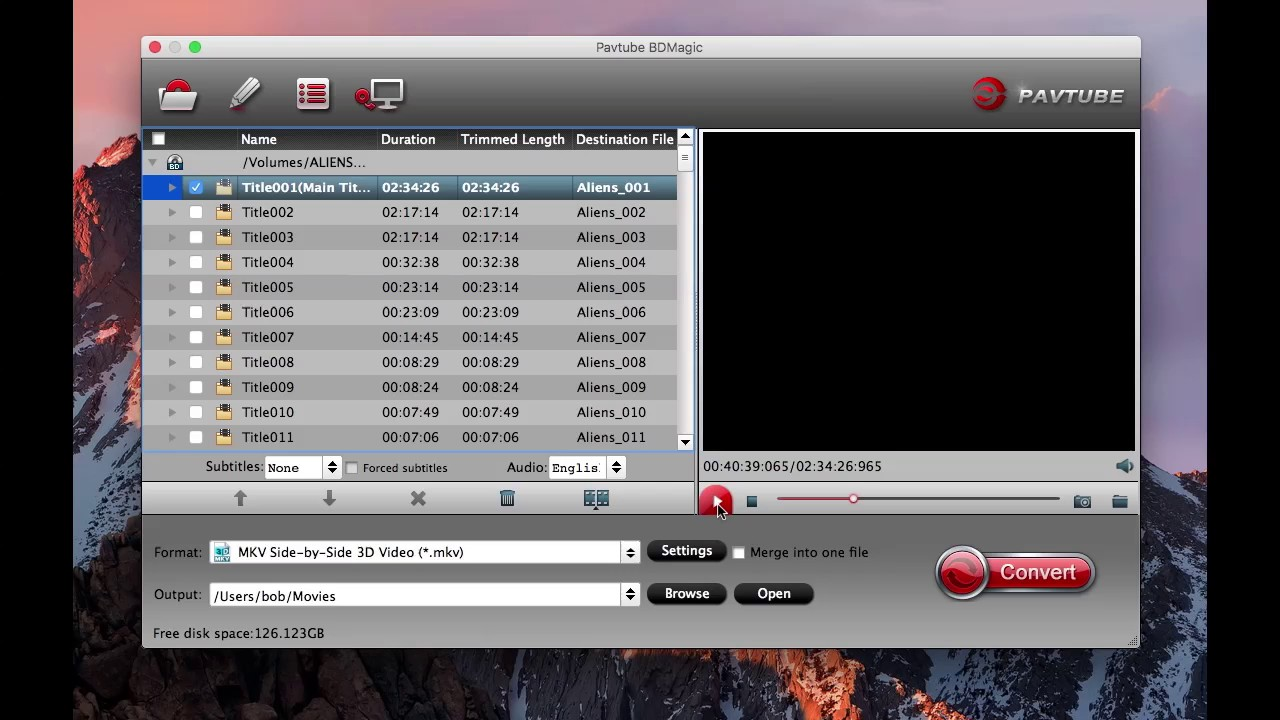 3D Blu-ray ISO to SBS 3D MKV Conversion on Mac for Streaming