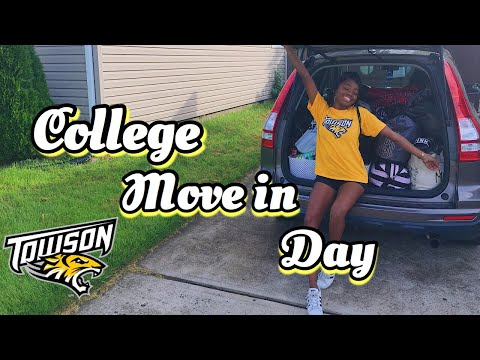 COLLEGE MOVE IN VLOG | TOWSON UNIVERSITY (Freshman)
