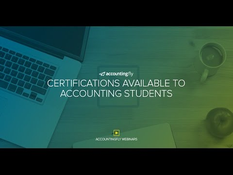 Certifications Available to Accounting Students