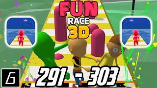 Fun Race 3D - Gameplay - Levels 291 - 303 + Bonus Levels (iOS - Android)