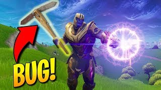 Thanos with *PICKAXE!* GAME-BREAKING BUG! WTF??? Fortnite FUNNY & WTF Moments! #158