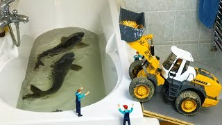 BEST of FISH videos | Bruder trucks and tractors | Action videos for kids