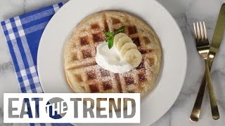 How To Make One-ingredient Puff Pastry Waffles | Eat The Trend