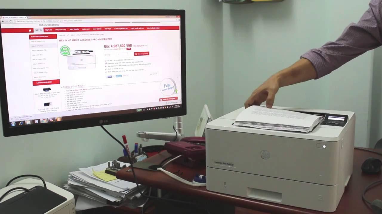 Video Kiểm chứng khả năng in hai mặt tốc độ cao của máy in HP M402d – Vietbis.vn