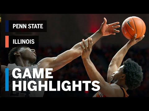 Highlights: Penn State at Illinois | Big Ten Basketball