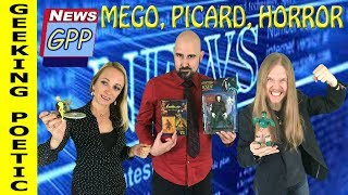 NEWS! New Mego Toys,  Star Trek's Picard is Back, & Full Moon rumors/Horror Convention