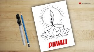 how to draw diya for diwali | drawing diya| diwali diya | diwali decoration ideas| lighting designer