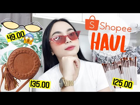 SHOPEE HAUL (hair tools, brushes, makeup, bag, accessories,