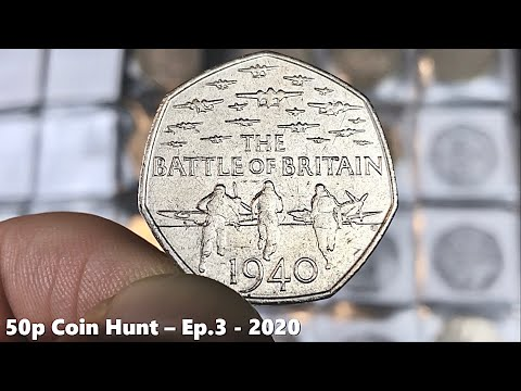 THE COIN BOOK BATTLE CONTINUES! | £100 50p COIN HUNT Book 1 Ep.3 - 2020 from YouTube · Duration:  8 minutes