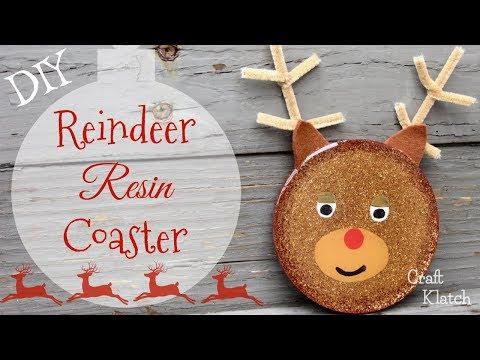 Reindeer Resin Coaster Christmas DIY | Another Coaster Friday | Craft Klatch