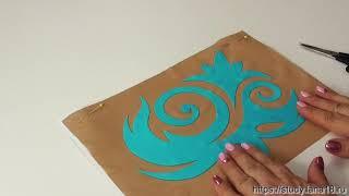 Аппликация на купальнике для художественной гимнастики:  Пришиваем круговые элементы