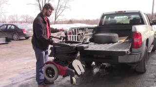 Multi-Lift Lifting Power Wheelchair or Scooter Into Rear Of Pickup Truck Bed