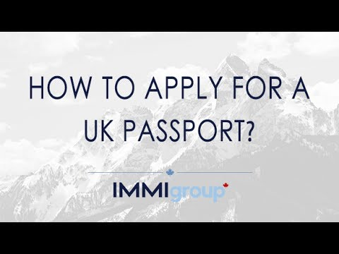 How To Apply For A Uk Passport Updated Youtube