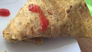 Stuffed Besan Cheela Cones Recipe | Hindi Recipe Video Indian Snacks
