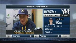 Brewers manager Counsell on Arcia: 'He had a nice defensive game'